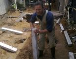 Home extension - install concrete stumps