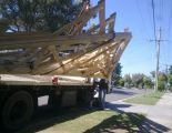 Truss roof - delivery off truck